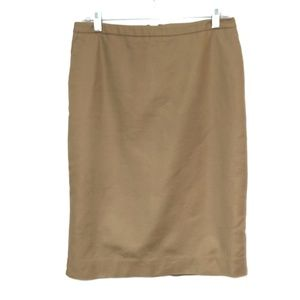 Merona | Khaki Pencil Skirt with side pockets